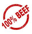 100 percent beef vector image