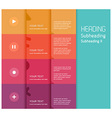 5 color flat design template - vector image