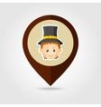 American Pilgrim children mapping pin icon vector image vector image