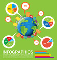 An infographics of the Earth vector image vector image