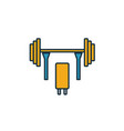 barbell icon simple element from sport equipment vector image vector image