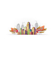 big city buildings on the background of buildings vector image vector image