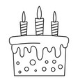 birthday cake icon outline style vector image vector image