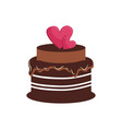 birthday cake logo vector image