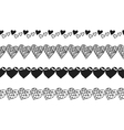 Black and white decorative ornament pattern vector image vector image