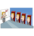 board of directors cartoon vector image