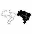 brazil regions maps vector image