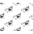 carp seamless on white background vector image vector image