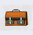 classic working bag or men accessory engraved vector image