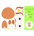 cut and glue baby owl education developing