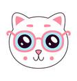 cute kitty head vector image