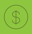 dollar color linear icon vector image