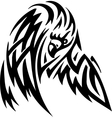 eagle in tribal style vector image