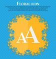 enlarge font aa icon sign floral flat design