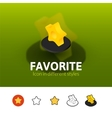 Favorite icon in different style vector image vector image
