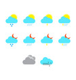 flat color weather icon set vector image vector image