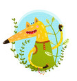fox portrait in wild vector image vector image