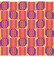 geometric african print cloth kente seamless vector image vector image