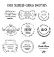 German vintage badges and icons vector image vector image