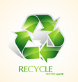 green recycle vector image