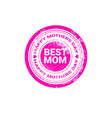 happy mother day spring holiday greeting stamp vector image