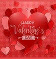 happy valentines day background with red heart vector image vector image