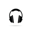 headphones black and white vector image vector image