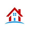 house icon construction roof logo vector image