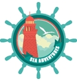 lighthouse emblem vector image vector image