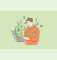 making money in internet concept vector image