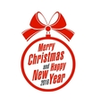 Merry Christmas and Happy New Year on a white vector image vector image