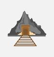 mining railway mountain graphic vector image