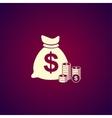 money icon Flat design style vector image vector image