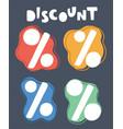 percent icon vector image vector image