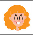 pretty blonde hair woman laughing facial vector image vector image