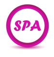Purple spa icon vector image vector image