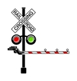 Rail crossing signal icon simple style vector image vector image