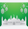 ramadan background with mosque vector image