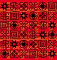 seamless african adinkra pattern