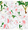 seamless texture white rhododendron branch vector image vector image