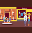 senior couple in shopping center elderly people vector image