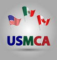 set american canadian and mexican uamca vector image vector image