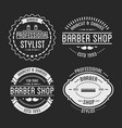 set vintage barber shop logo and beauty spa vector image