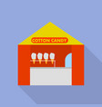 shop tent cotton candy icon flat style vector image