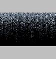 silver confetti falling sparkling glitter vector image vector image