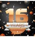 Sixteen years anniversary celebration background vector image vector image
