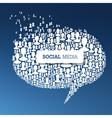 social concept bubble vector image vector image