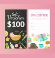 spa center gift voucher template beauty salon vector image vector image