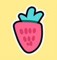 strawberry in cartoon style vector image