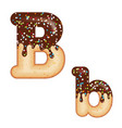 tempting typography font design 3d donut letter b vector image vector image